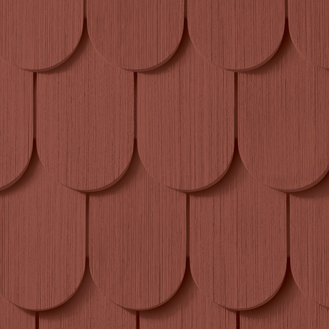 Cedar Impressions 174 6 1 4 Quot Half Round Shingles Siding