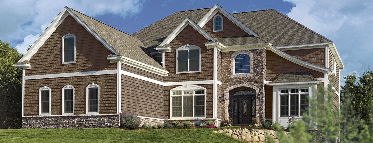 "7 Popular Siding Materials To Consider: Northwoods® Single 7"" Straight Edge Rough-Split Shakes"