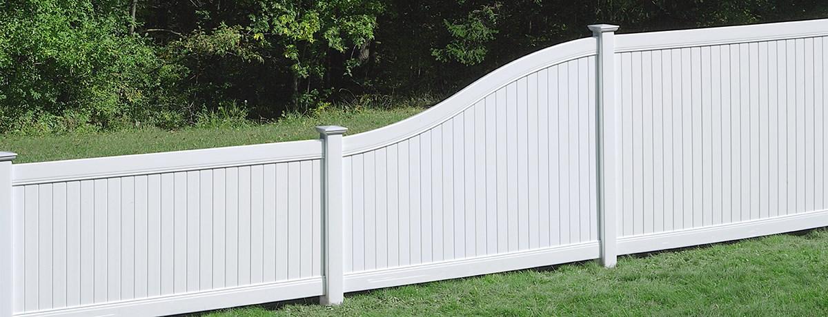 New Lexington S Curve Transition Panel Fence Certainteed
