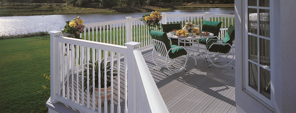 Oxford Vinyl Railing Routed System Railing Certainteed