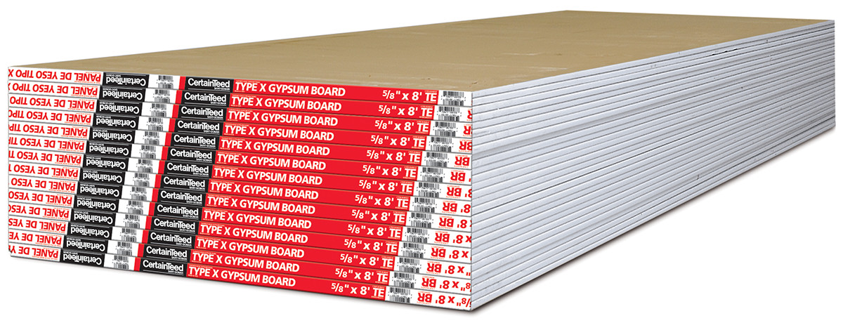 Fire Rated Gypsum Board : Type fire resistant drywall certainteed