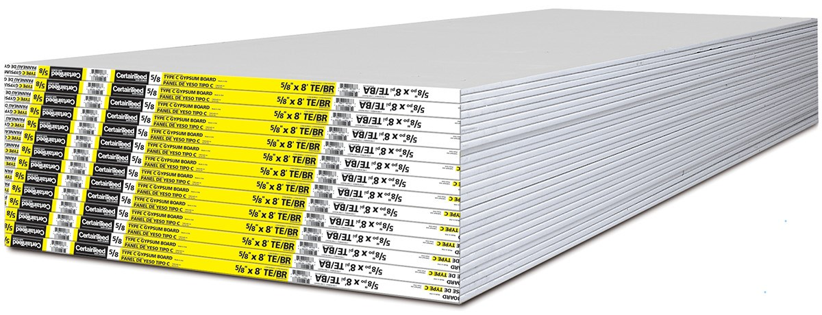 Fire Rated Gypsum Board : Type c fire resistant drywall