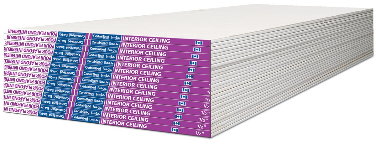 Gypsum Core Board ~ Certainteed interior ceiling gypsum board