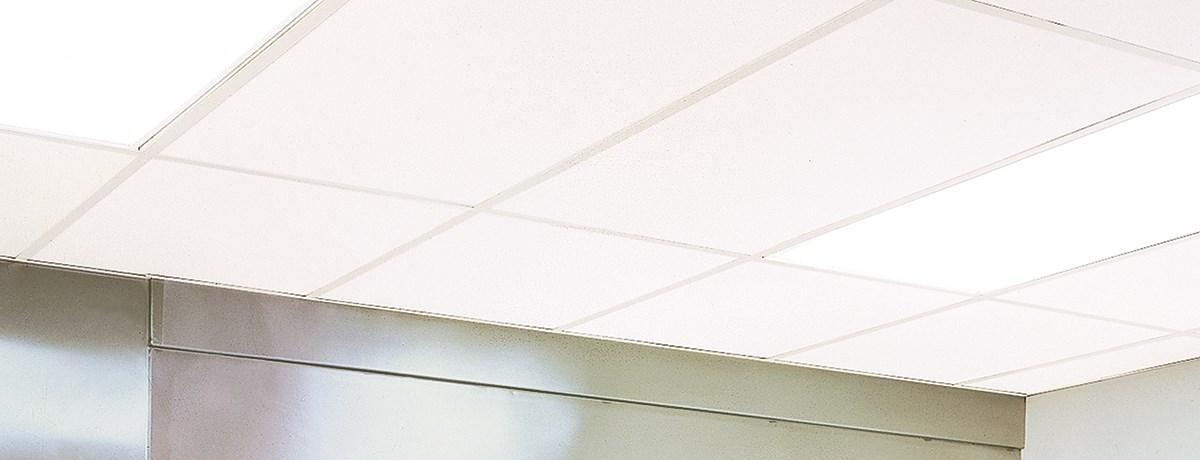 Vinylrock Gypsum Ceiling CertainTeed - Cleanable ceiling tiles