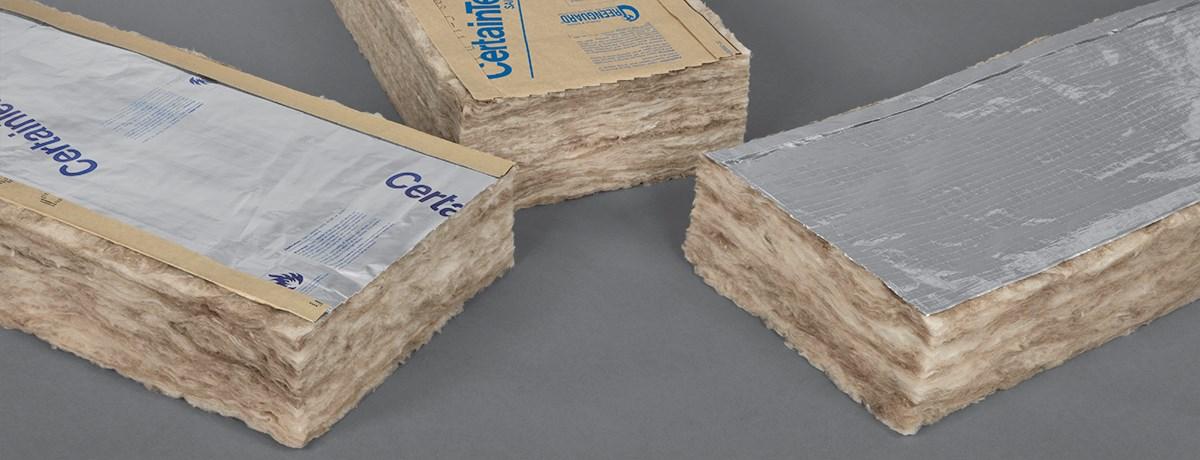 Certapro commercial kraft foil fsk 25 faced batts for Sound fiberglass insulation