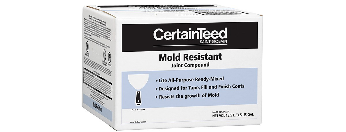 Mold resistant lite ready mixed joint compound for Mold resistant insulation