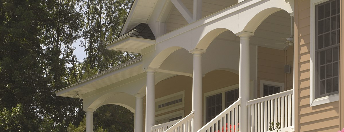 Structural Tapered Round Column Railing Certainteed