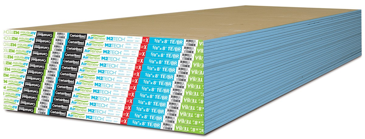 Gypsum Board Siding : Indoor air quality gypsum board with m tech technology