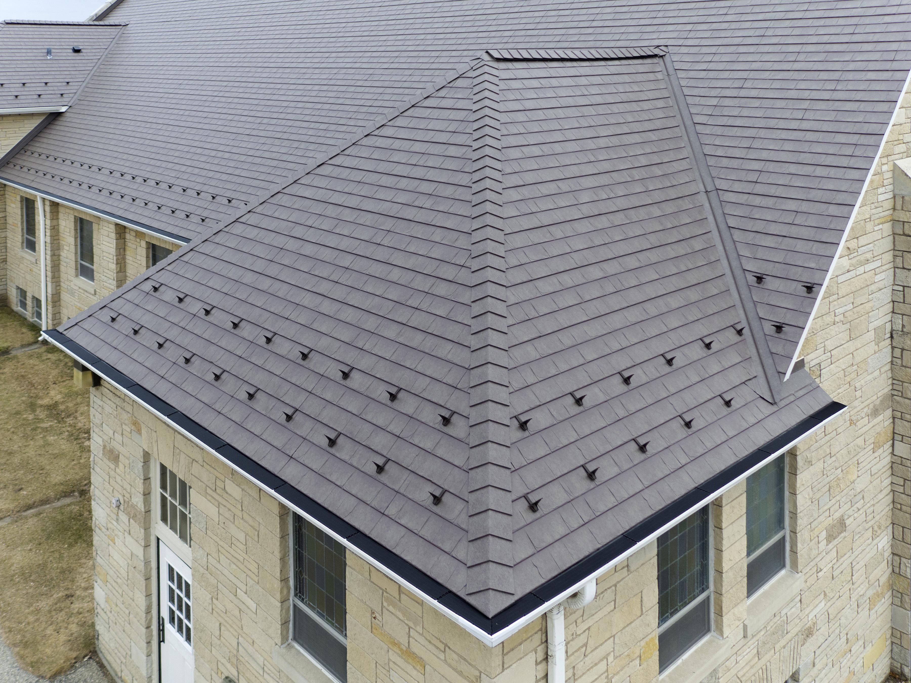 Church Roof Replacement Matterhorn Slate Metal Shingles