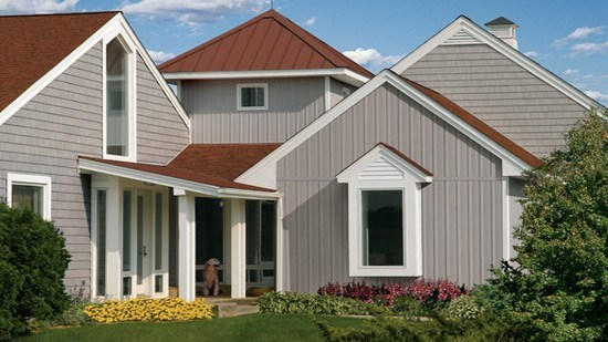 Board batten vertical siding and cedar impressions for Vertical house siding pictures