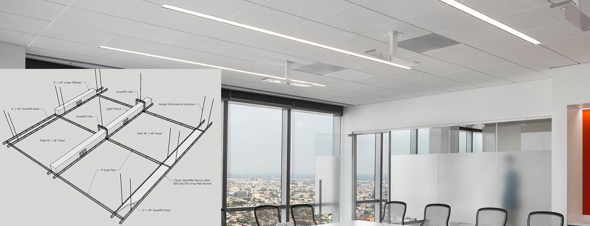 Buy Suspended Ceiling Grid Metal Stretched Drop Ceiling