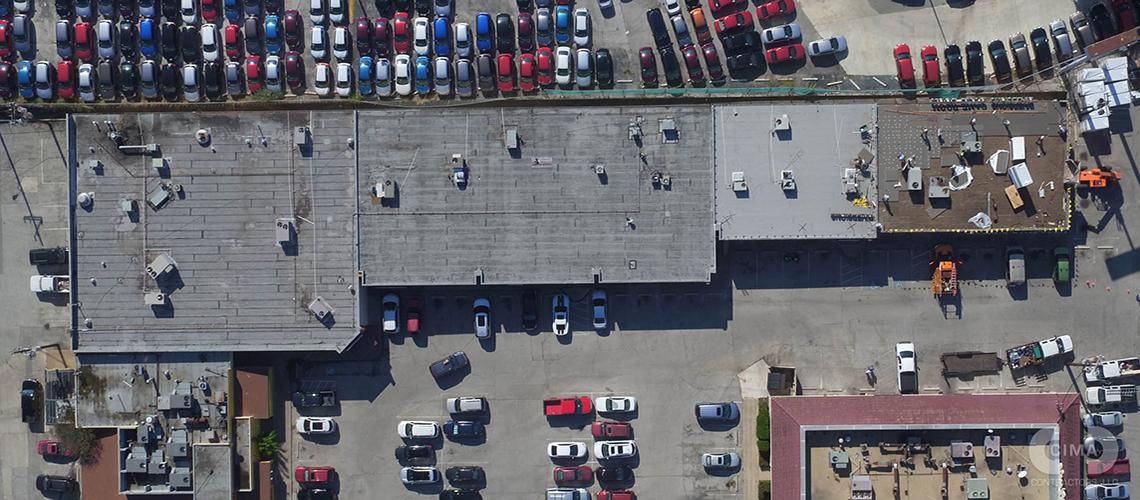 San Pedro Shopping Center Hail Damaged Roof