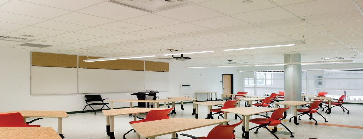 Ceilings Products Earn High Marks In School