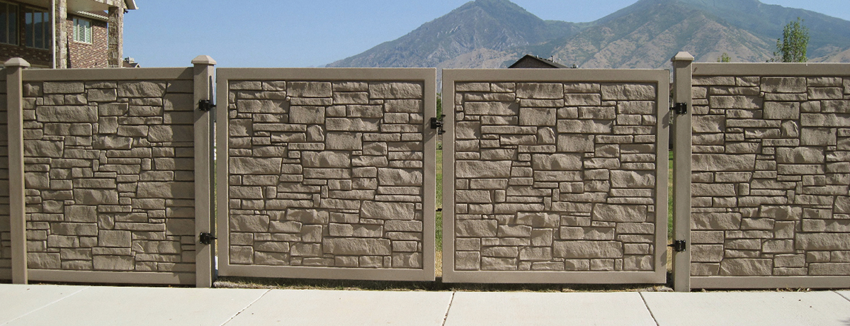 Ecostone 174 Gate Fence Certainteed