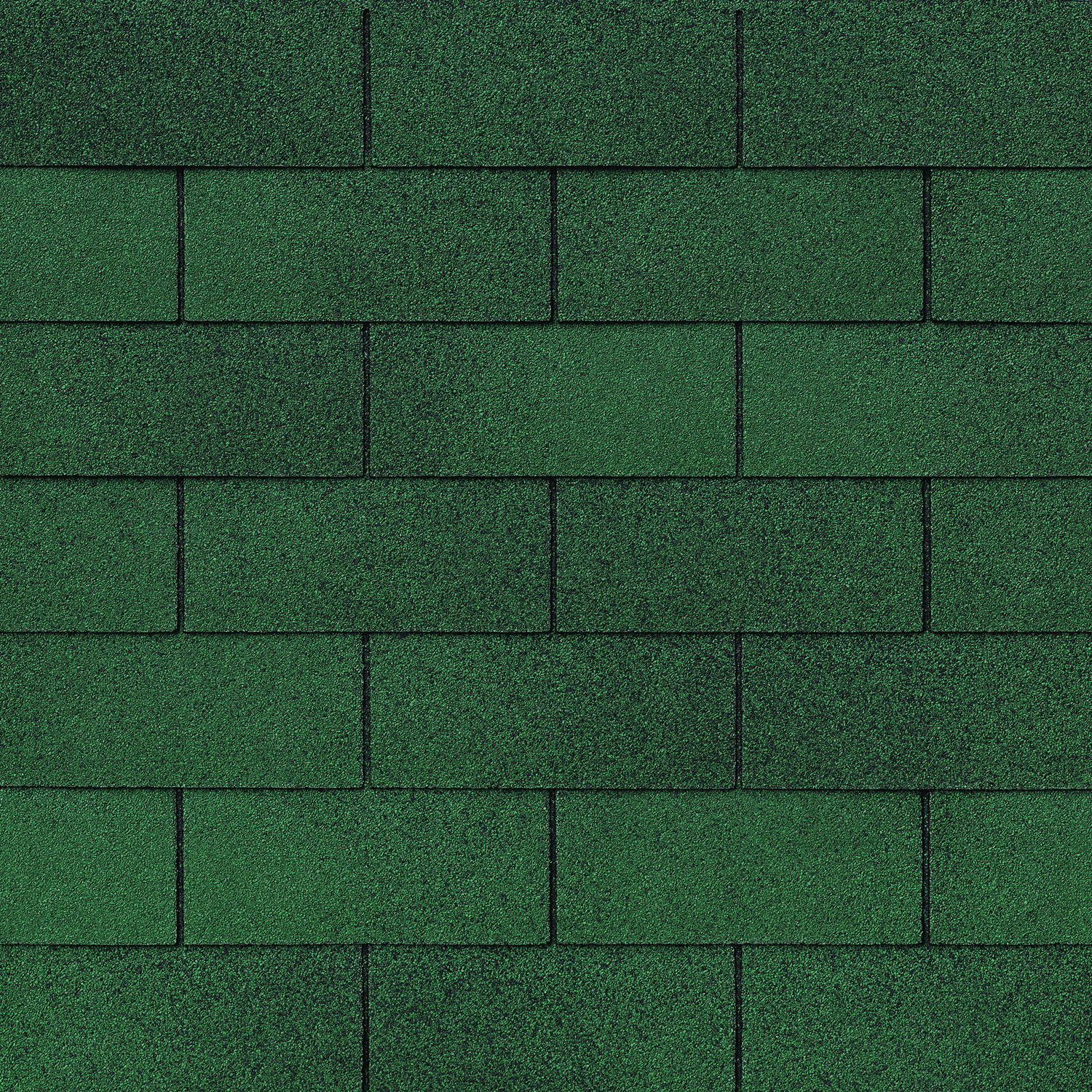 Strip shingle in the color Evergreen