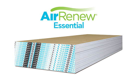 Airrenew drywall does more than clean the air certainteed for Airrenew drywall