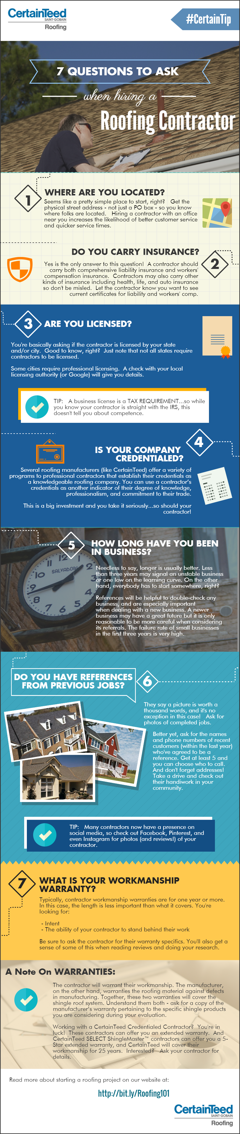 Infographic U2013 7 Questions To Ask When Hiring A Roofing Contractor |  CertainTeed