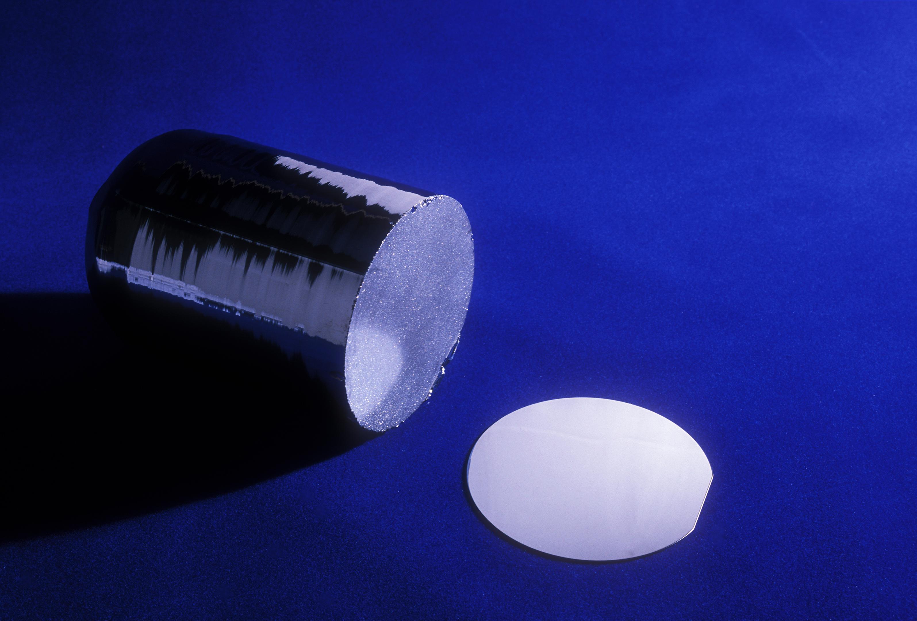 Lingote de y oblea de silicio