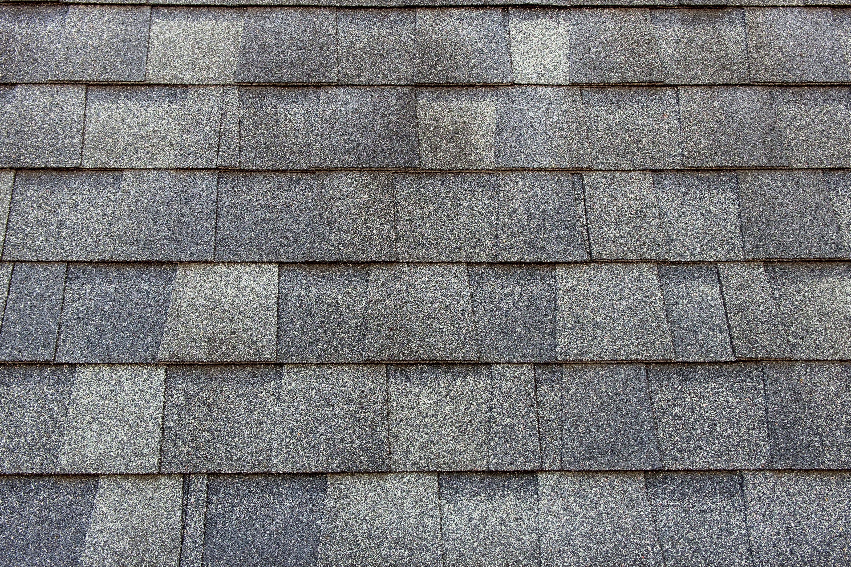 algae streaked roof